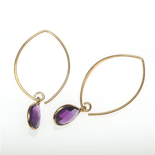 Gold Vermeil Amethyst Drop Earrings