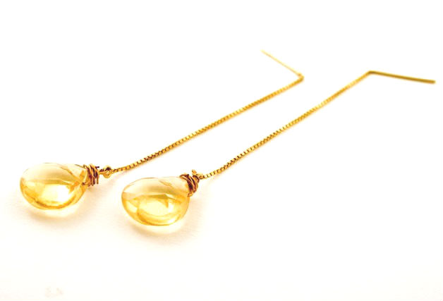 Citrine Gem Drop Earrings