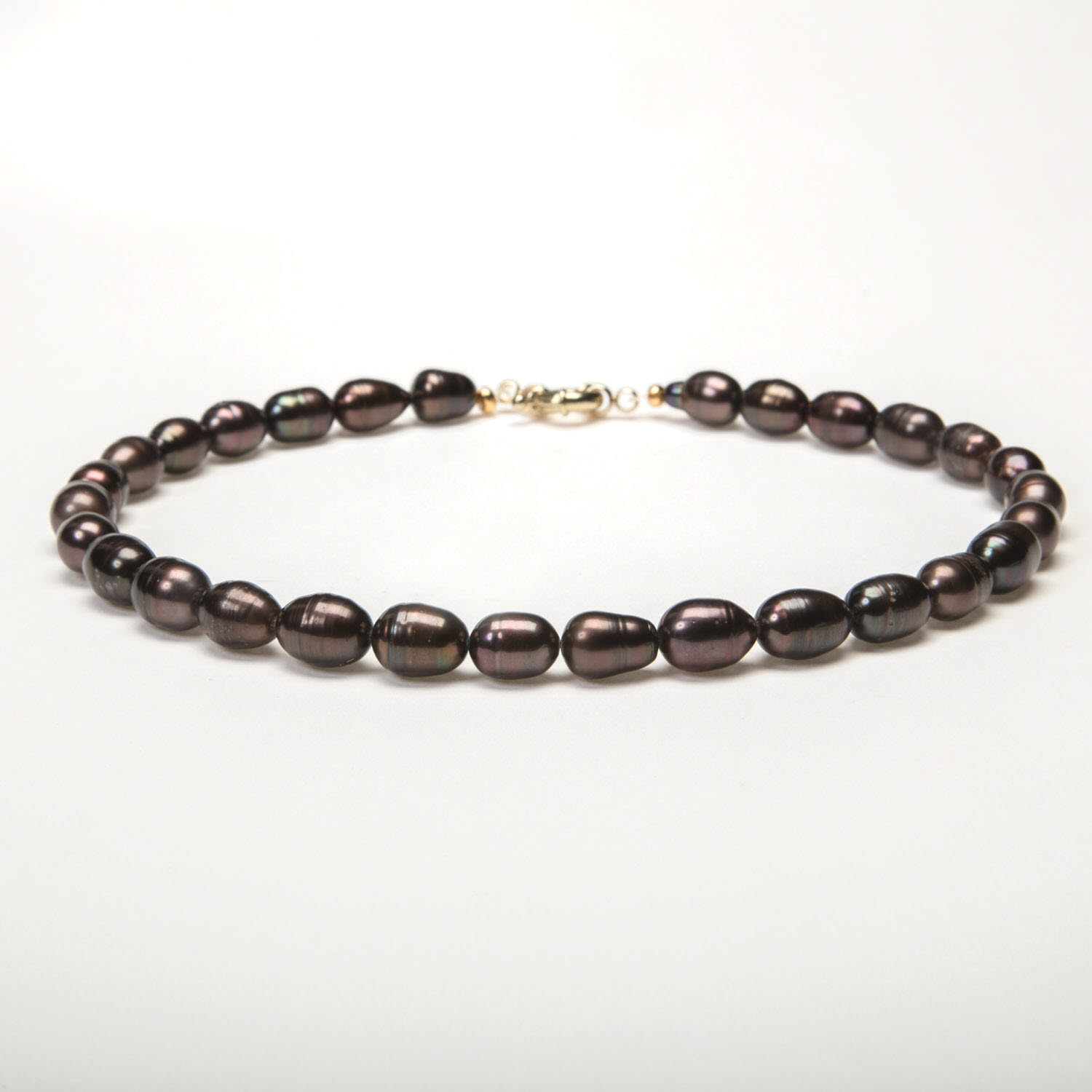 Chocolate Baroque Pearl Necklace - Luxe AAA Standard