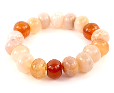 Crackled Carnelian Stone Bracelet