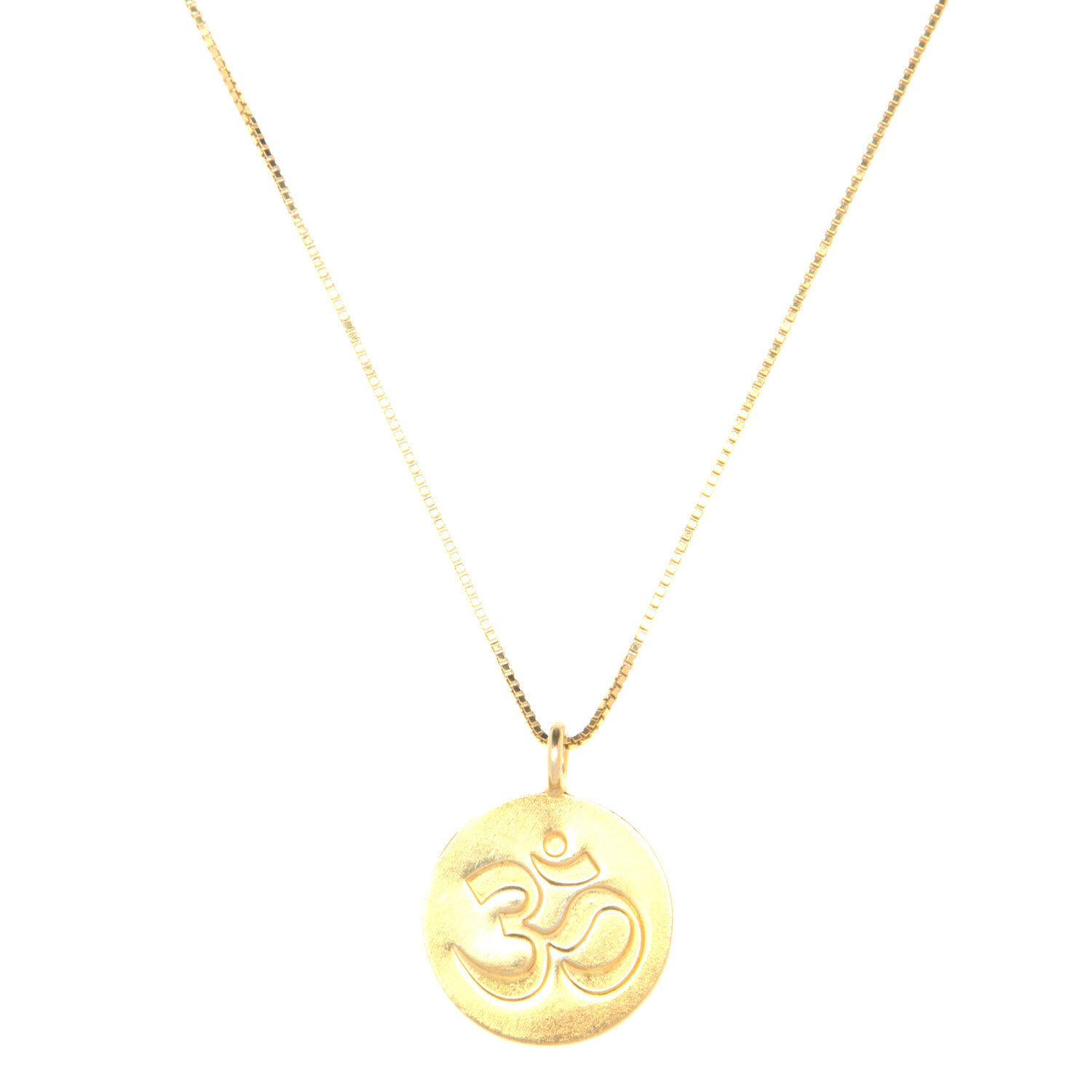 Gold Vermeil Ohm Charm Necklace