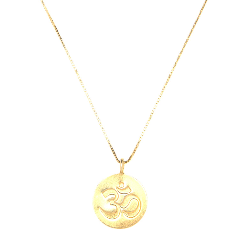 Gold Vermeil Ohm Charm Necklace
