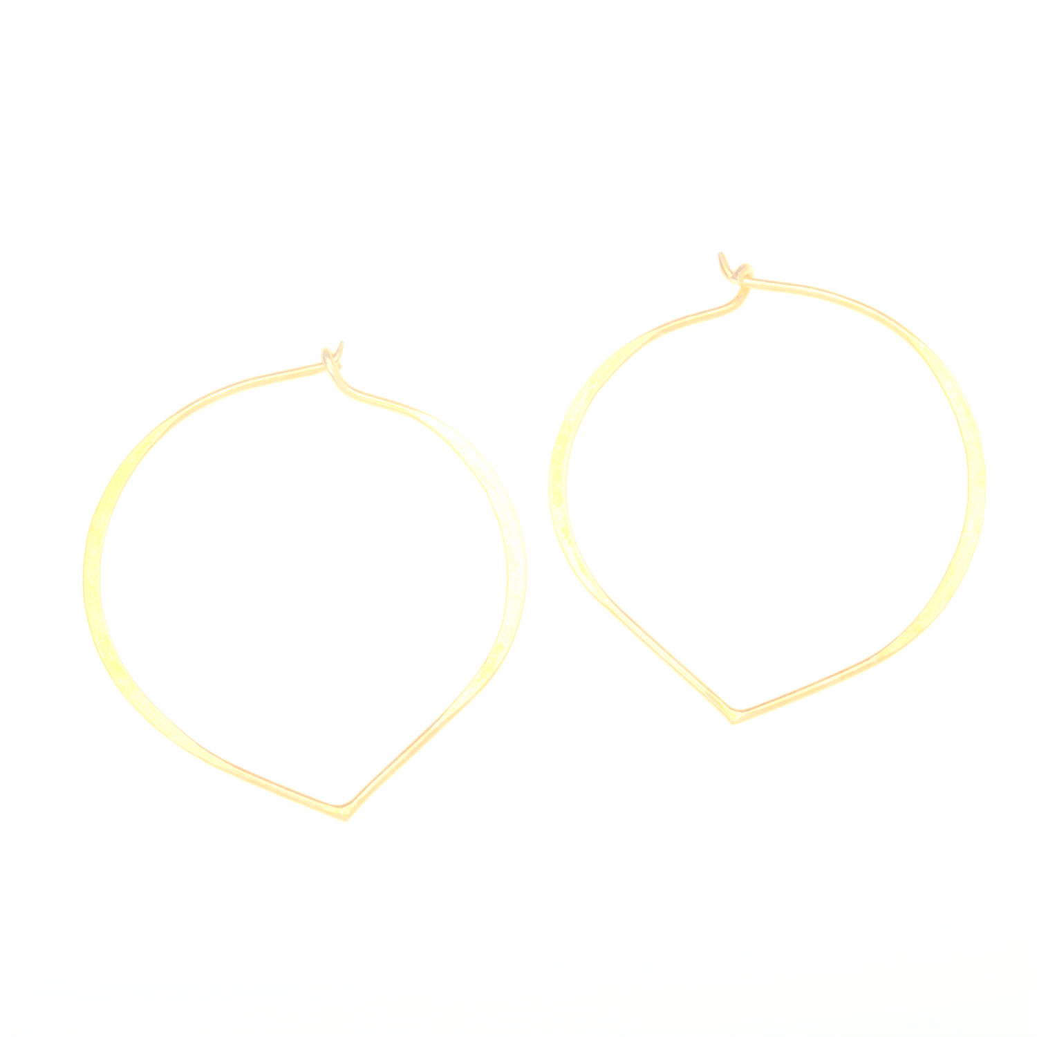 Gold Vermeil Morrocan Lotus Hoop Earrings