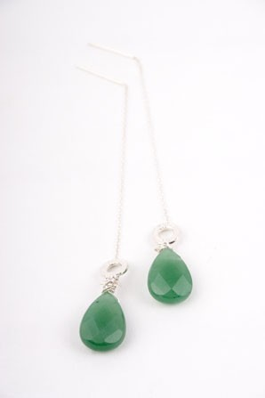 Green Aventurine Drop Earrings
