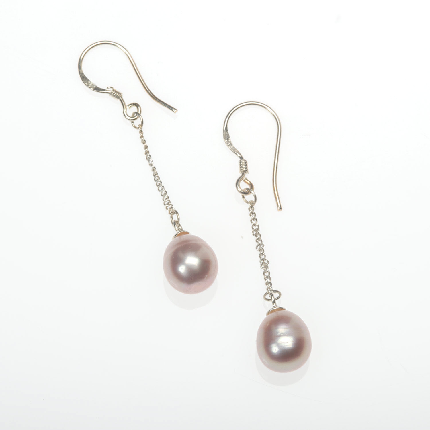 Lavender Freshwater Pearl Drop Earrings