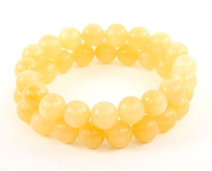 Lemon Aragonite Bracelets