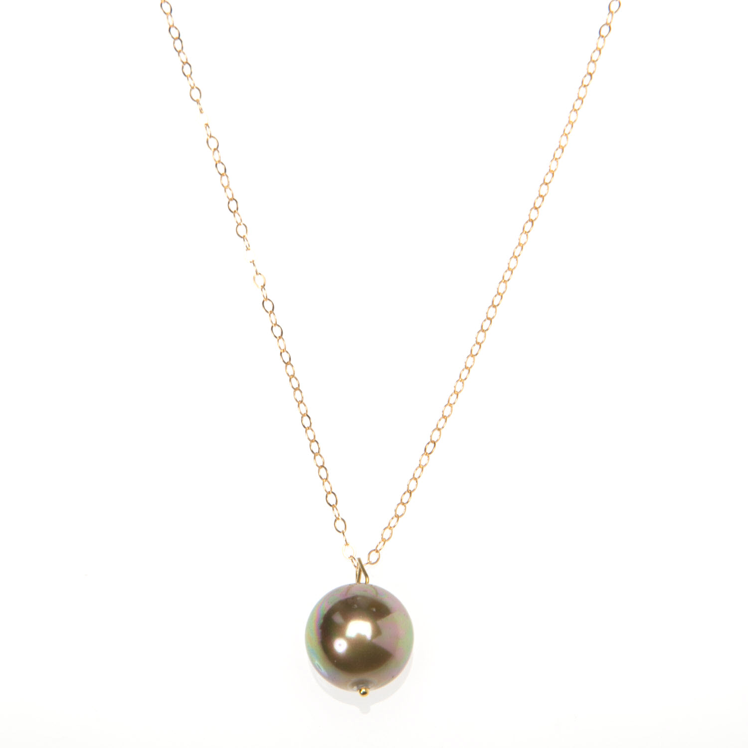 Large Champagne Pearl and Gold Vermeil Necklace