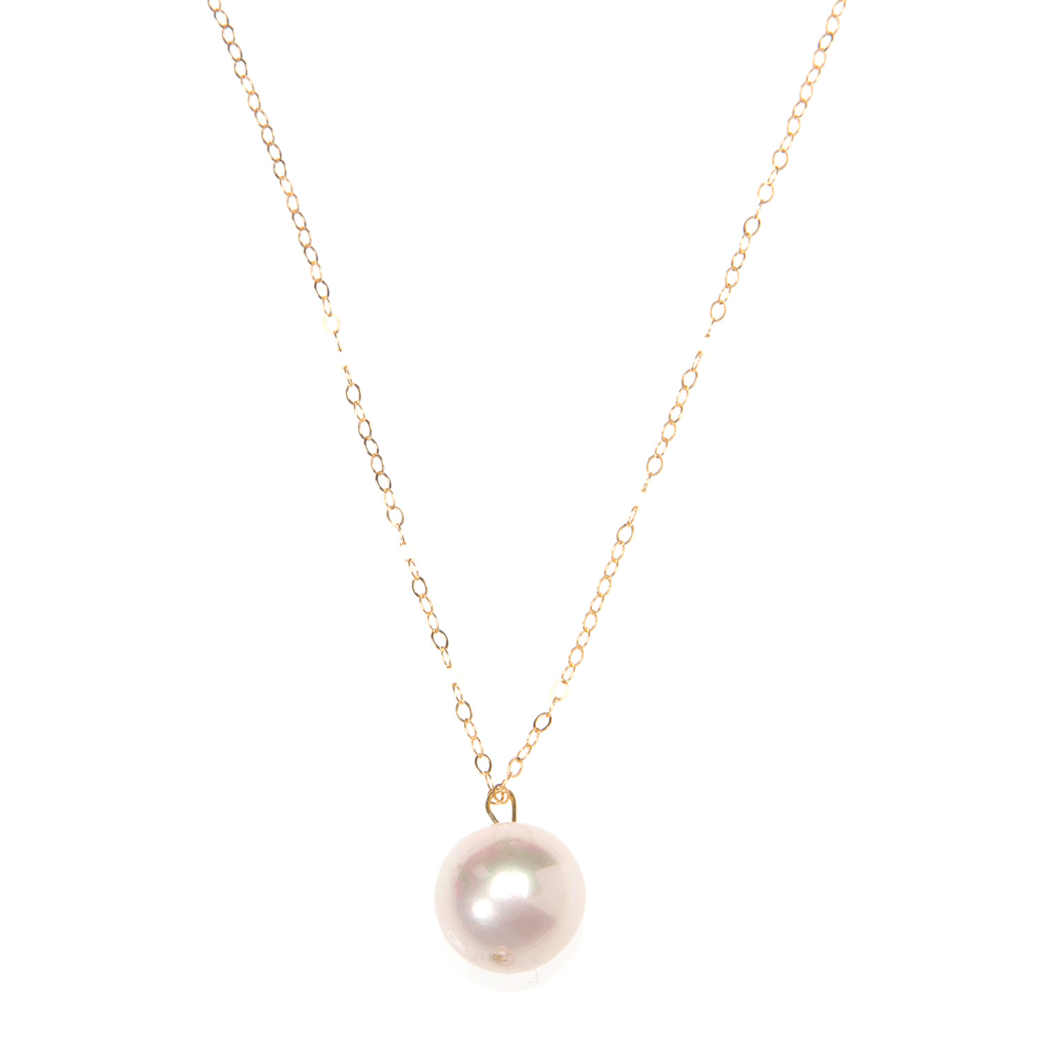 Large Pink Pearl and Gold Vermeil Necklace