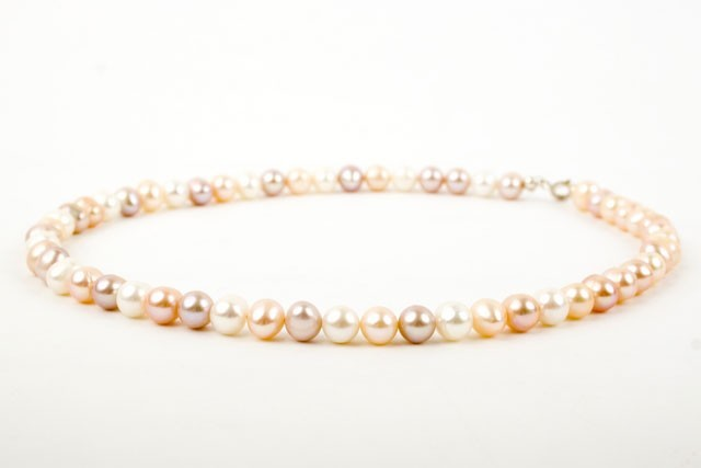 Freshwater Three Colour Pearl Necklace