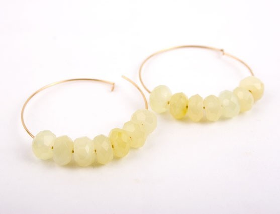 New Jade Hoop Earrings