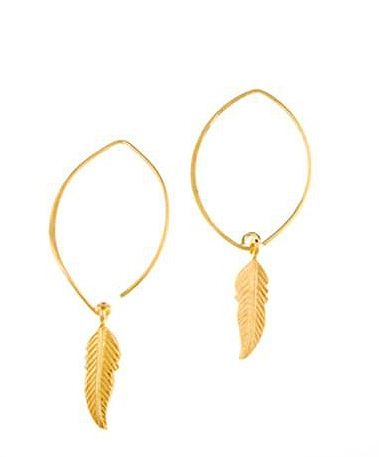 Gold Vermeil New Leaf Earrings
