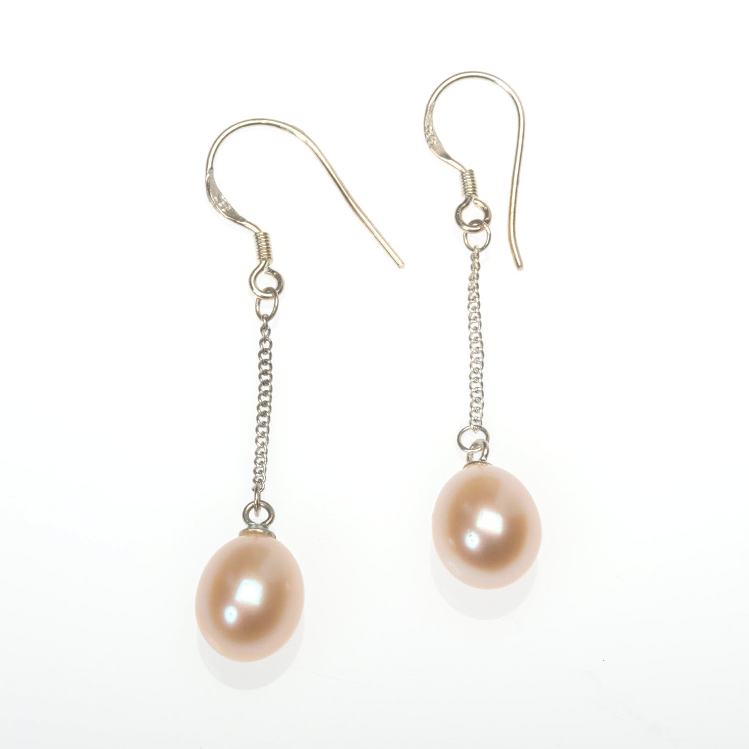 Pink Freshwater Pearl Drop Earrings