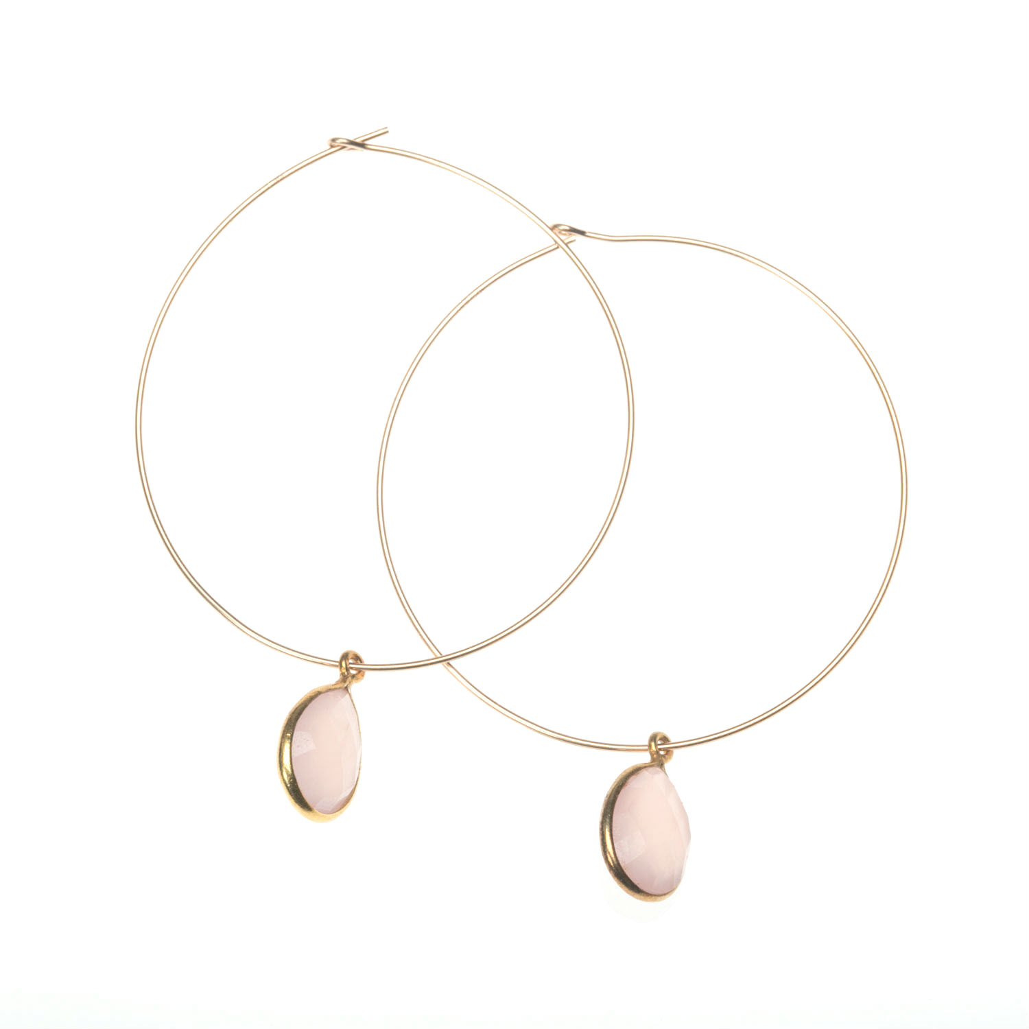 Gold Vermeil Rose Quartz Drop Earrings