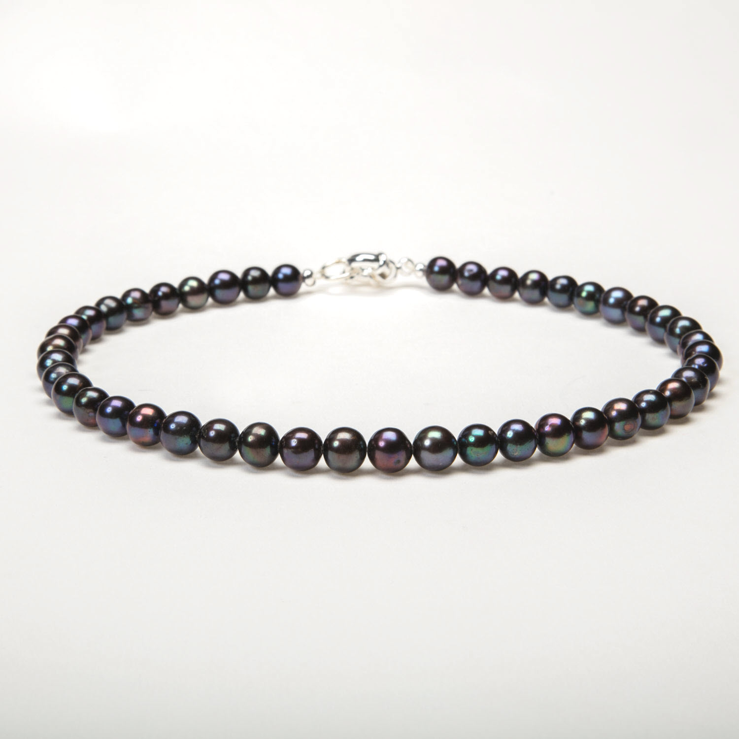 Tahitian Black Round Pearl Necklace