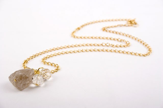 Smokey Quartz Nugget Necklace
