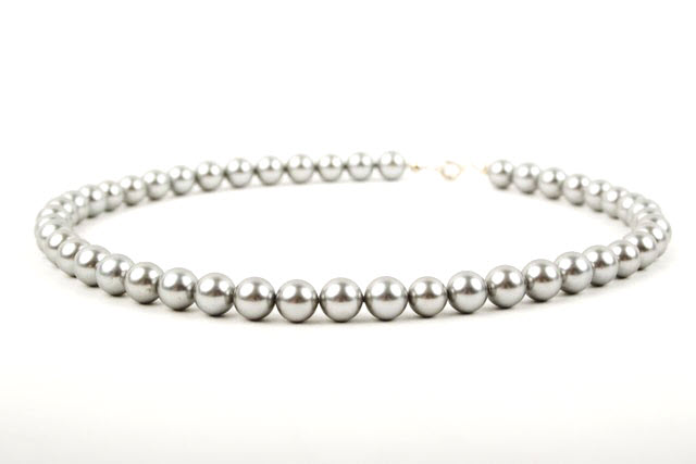 Silver Grey South Sea Shell Pearl Necklace