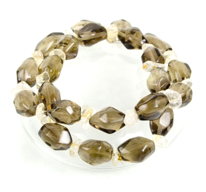 Smokey Quartz and Citrine Bracelets