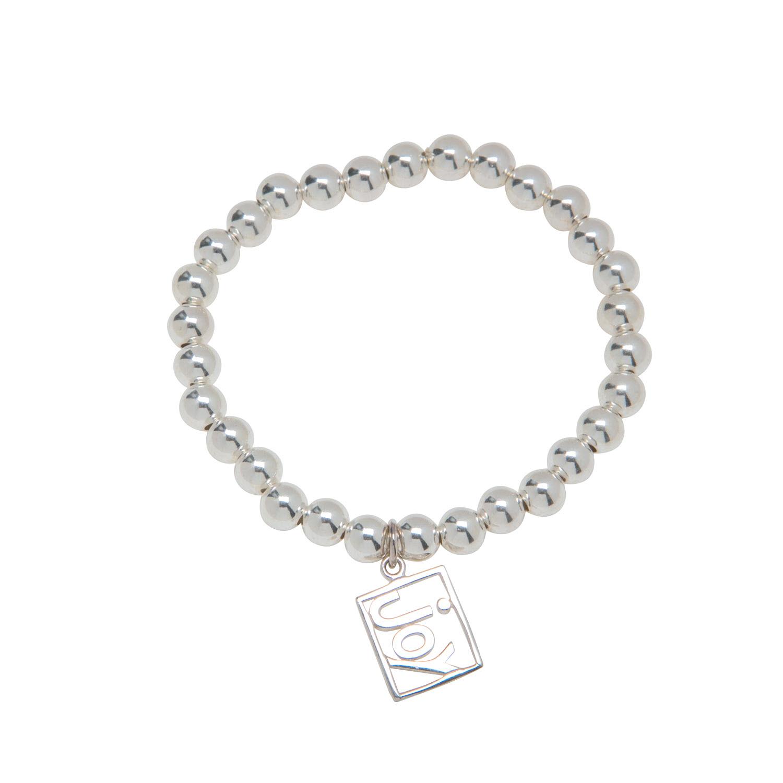 Sterling Silver Joy Charm Bracelet
