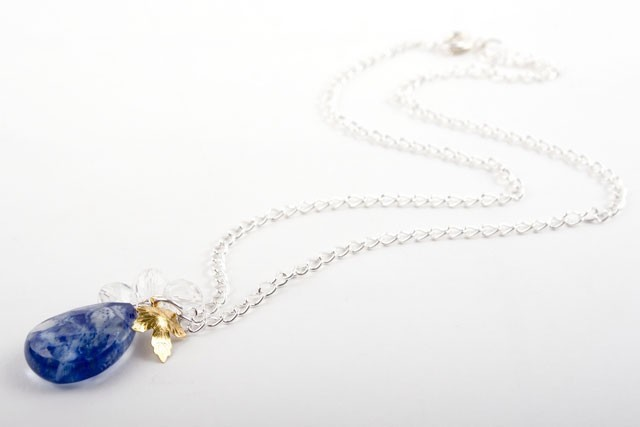 Tanzanite Quartz Pendant Necklace