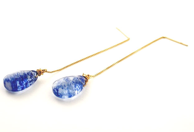 Tanzanite Quartz Gem Drop Earrings