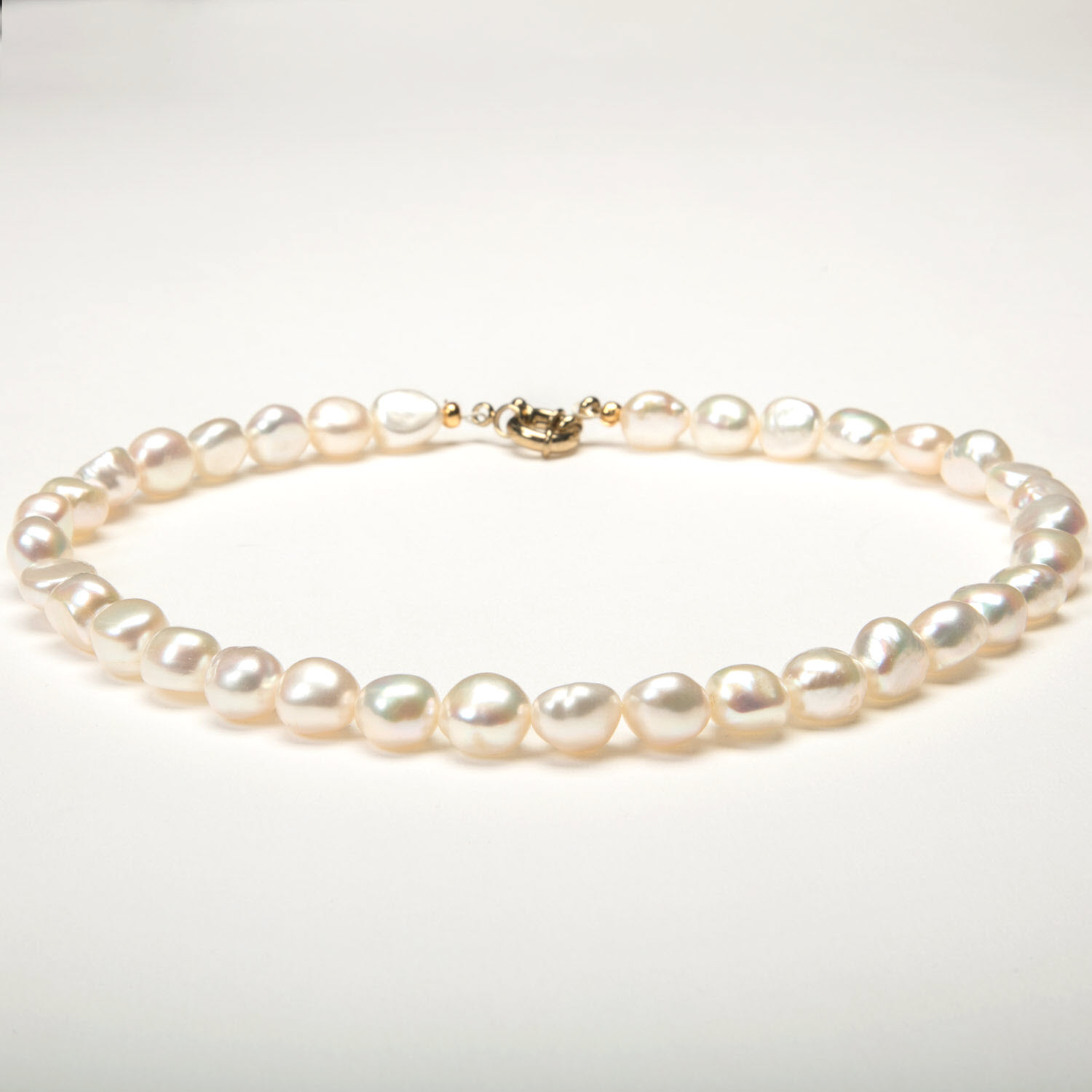 White Baroque Pearl Necklace - Luxe AAA Standard