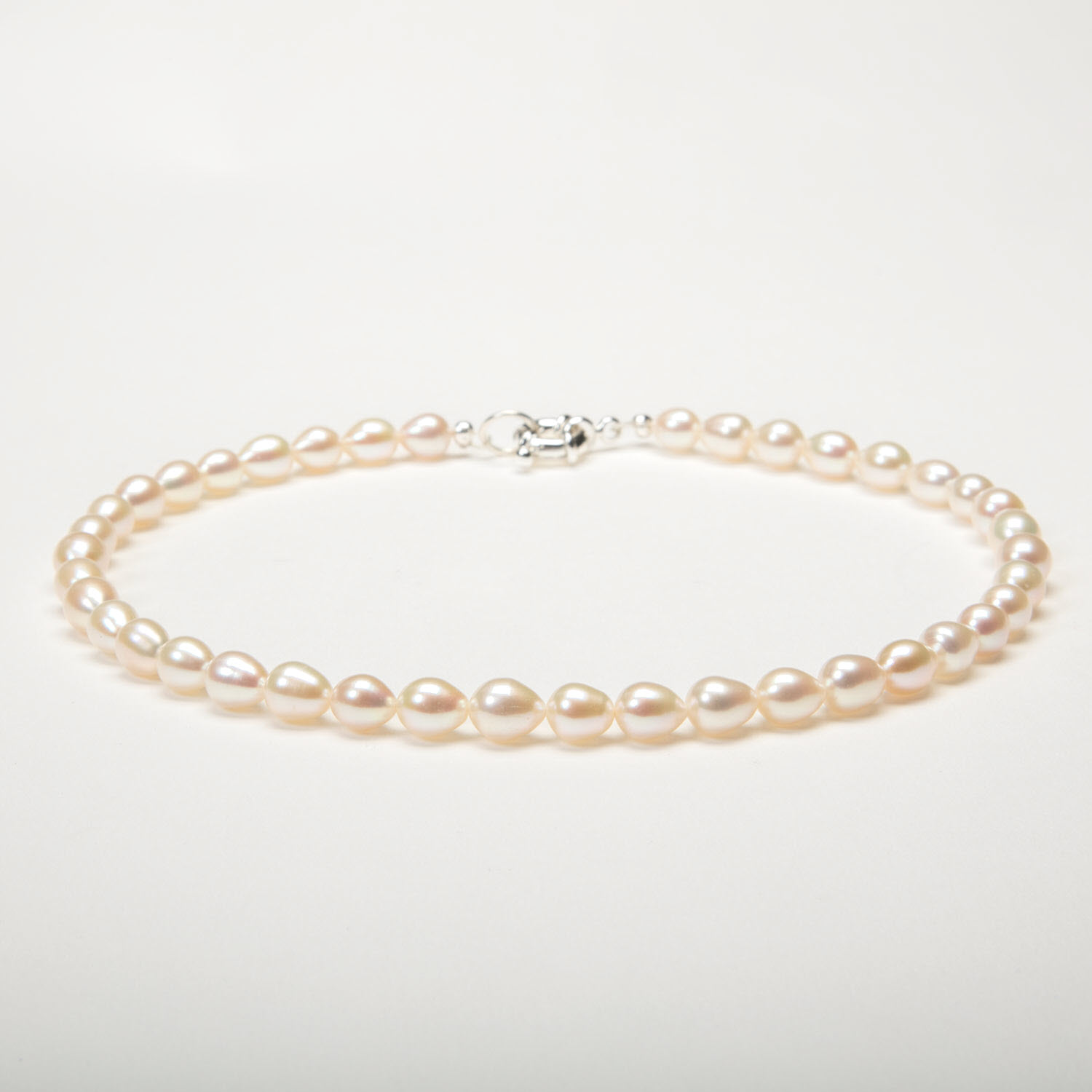 White Rice Pearl Necklace